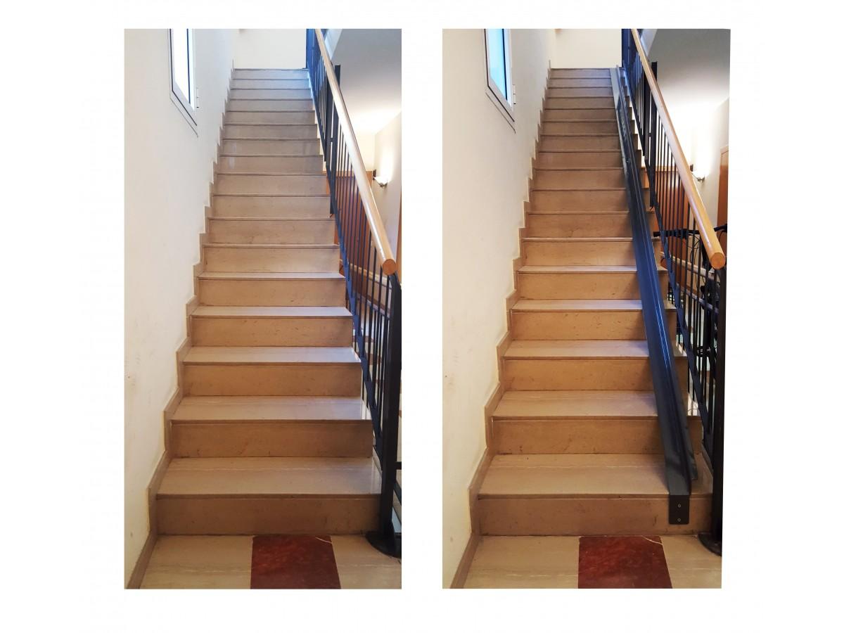 Guia per a bicicletes en escales a mida