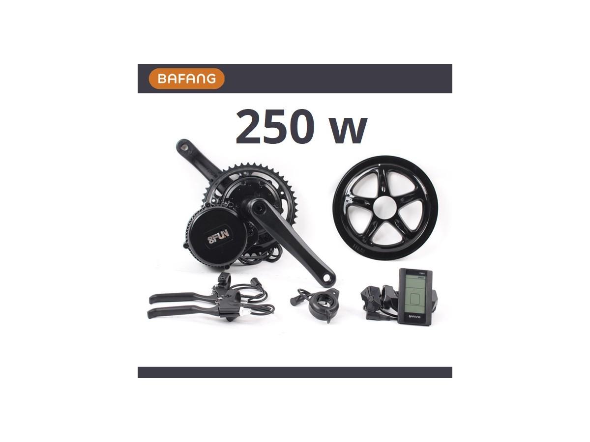 Kit de motor central Bafang 250W + bateria 11Ah