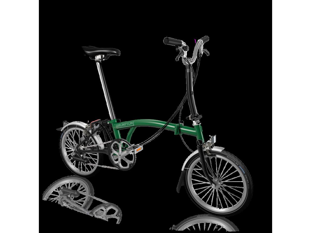 Bicicleta plegable Brompton M6L Verde - Negro