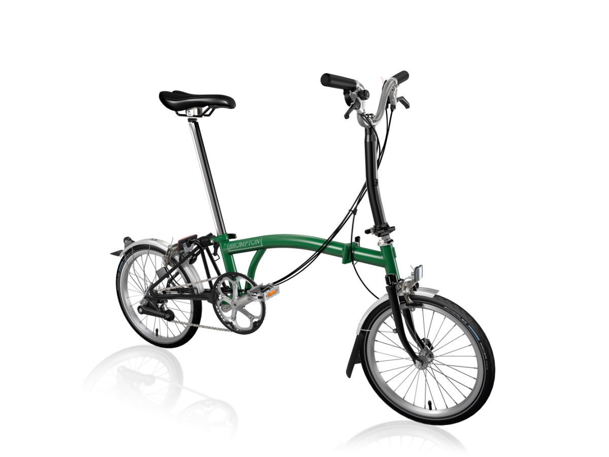 Folding bike Brompton M6L Racing Green - Black