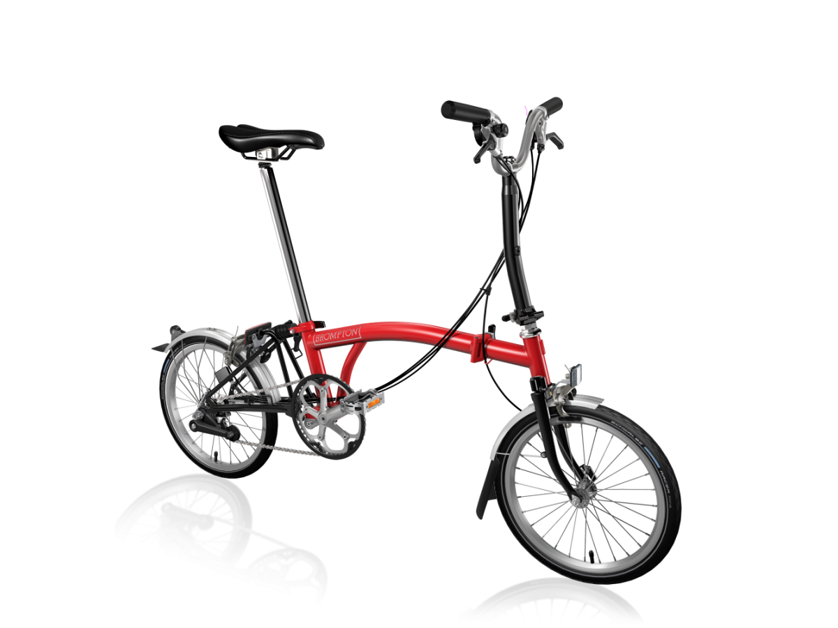 Folding bike Brompton M6L Red - Black