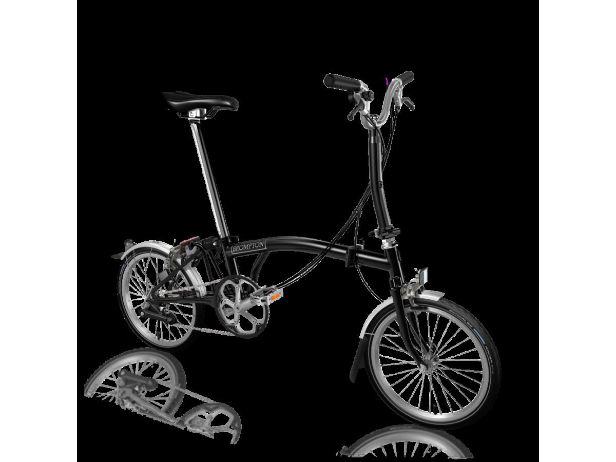 Bicicleta plegable Brompton M6L Negro - Negro