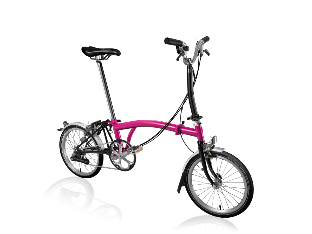 Folding bike Brompton M6L Hot Pink - Black