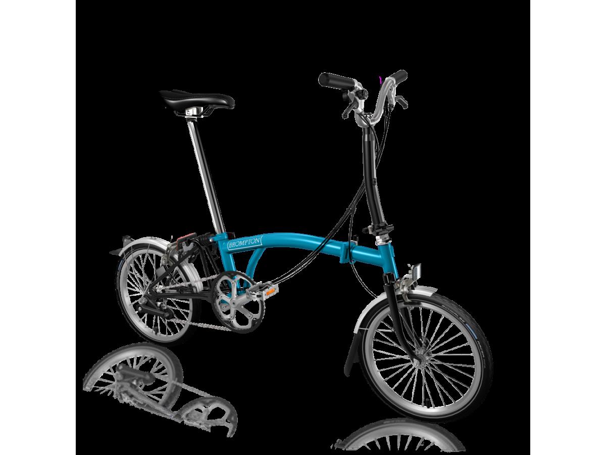 Bicicleta plegable Brompton M6L Blau - Negre