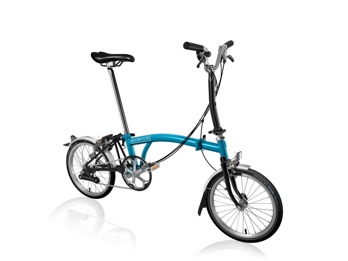 Folding bike Brompton M6L Lagoon Blue - Black