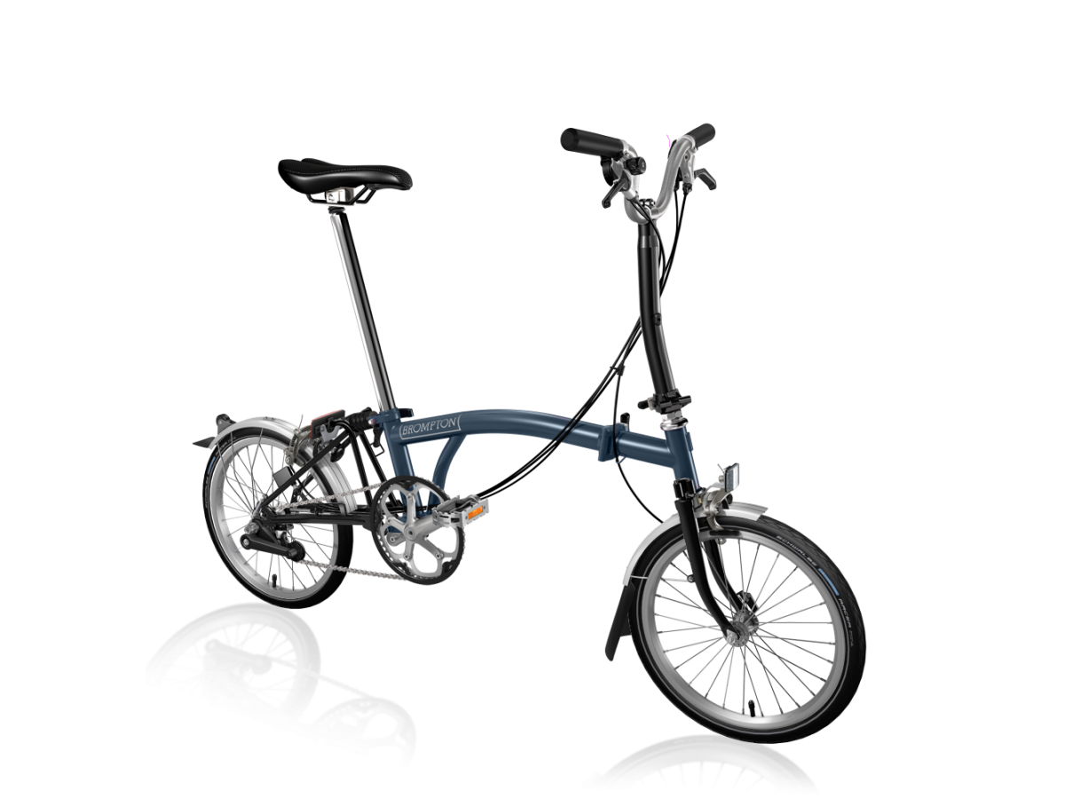 copy of Folding bike Brompton M6L Tempest Blue - Black