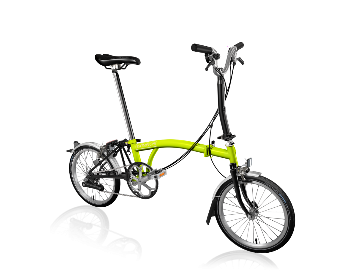 Folding bike Brompton M6L Lime Green - Black