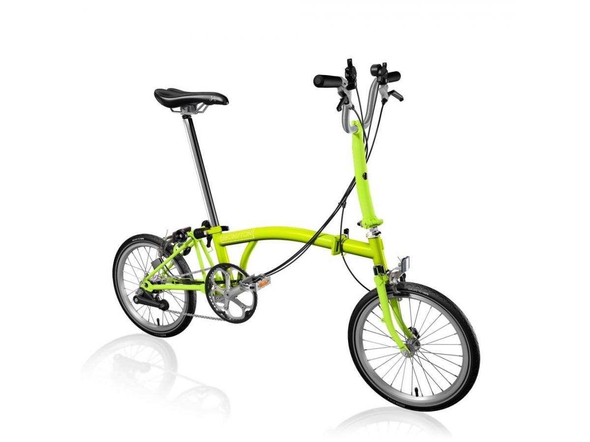 Bicicleta plegable Brompton Verde lima 2017