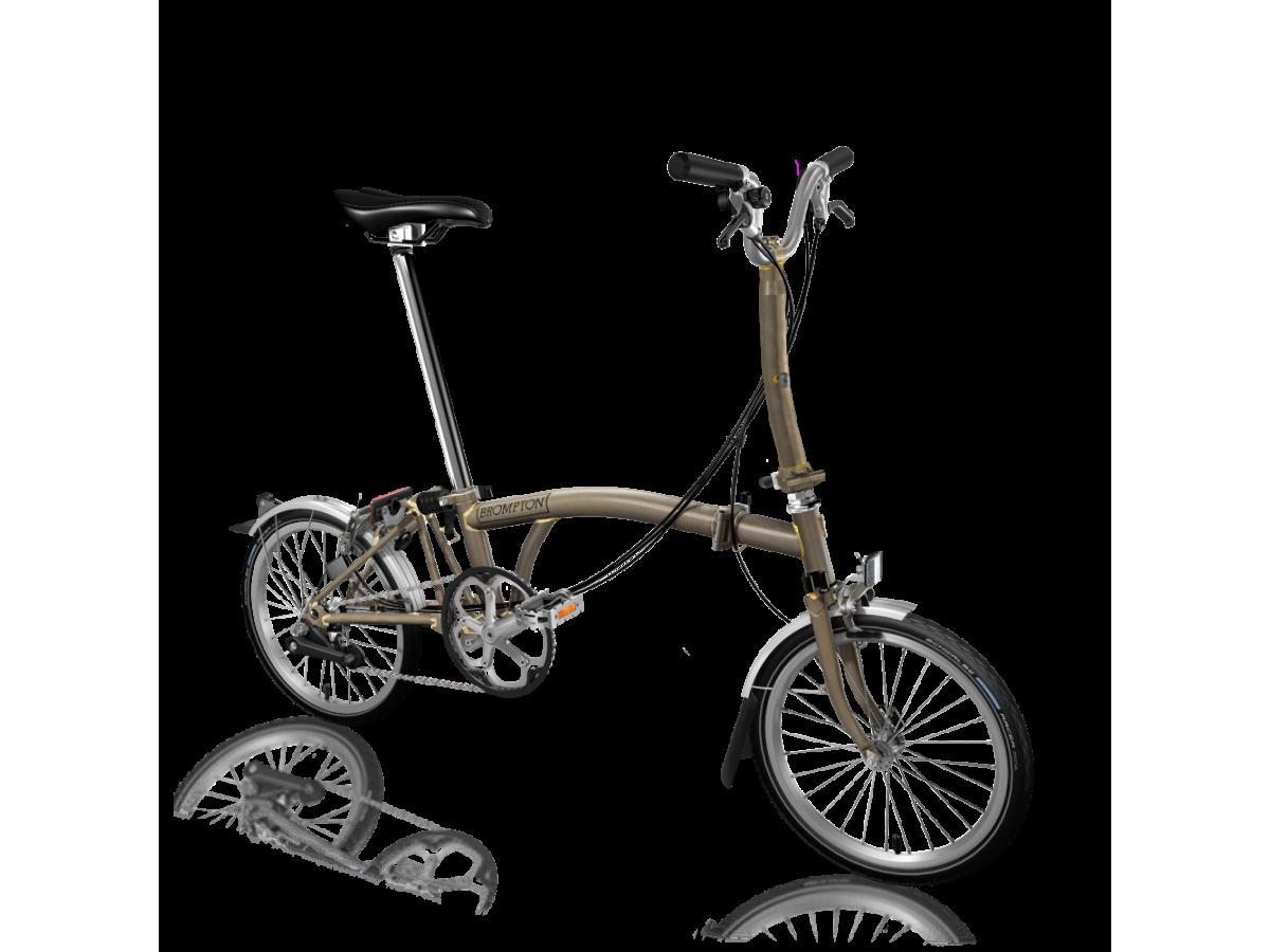 Folding bike Brompton M6L Raw Lacquer