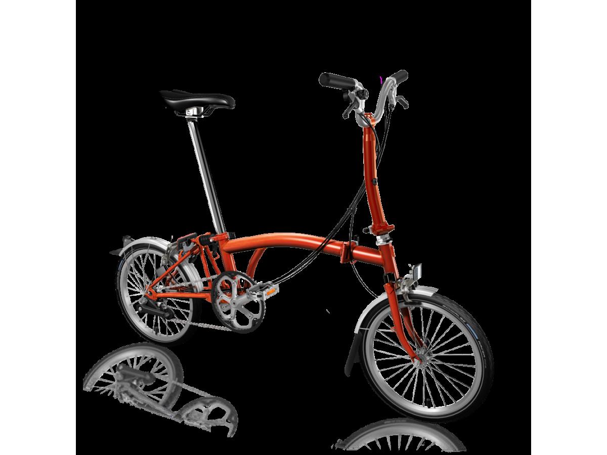 Bicicleta plegable Brompton M6L Flama lacada