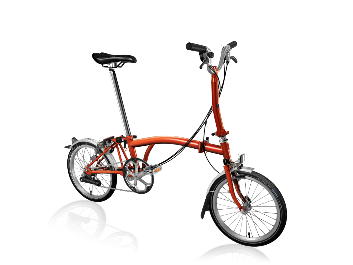 Bicicleta plegable Brompton M6L Llama lacada