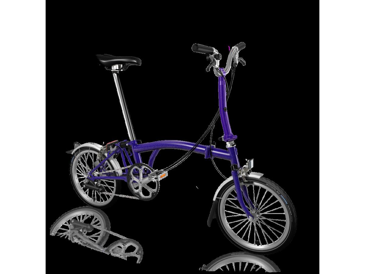 Bicicleta plegable Brompton M6L Morat metal·litzat