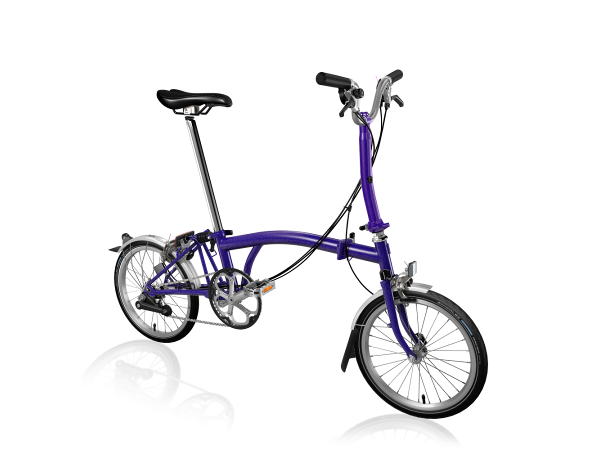Folding bike Brompton M6L Purple Metallic