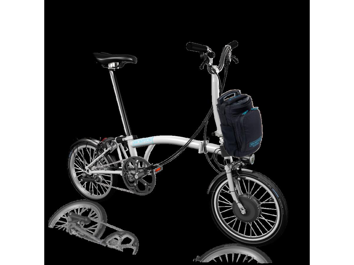 Bicicleta plegable Brompton Electric M6L - Blanc