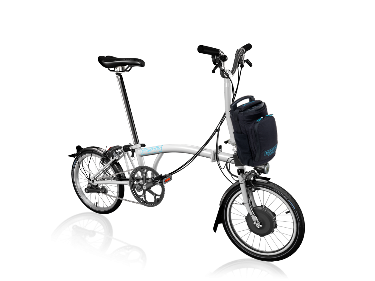 Bicicleta plegable Brompton Electric M6L - Blanco