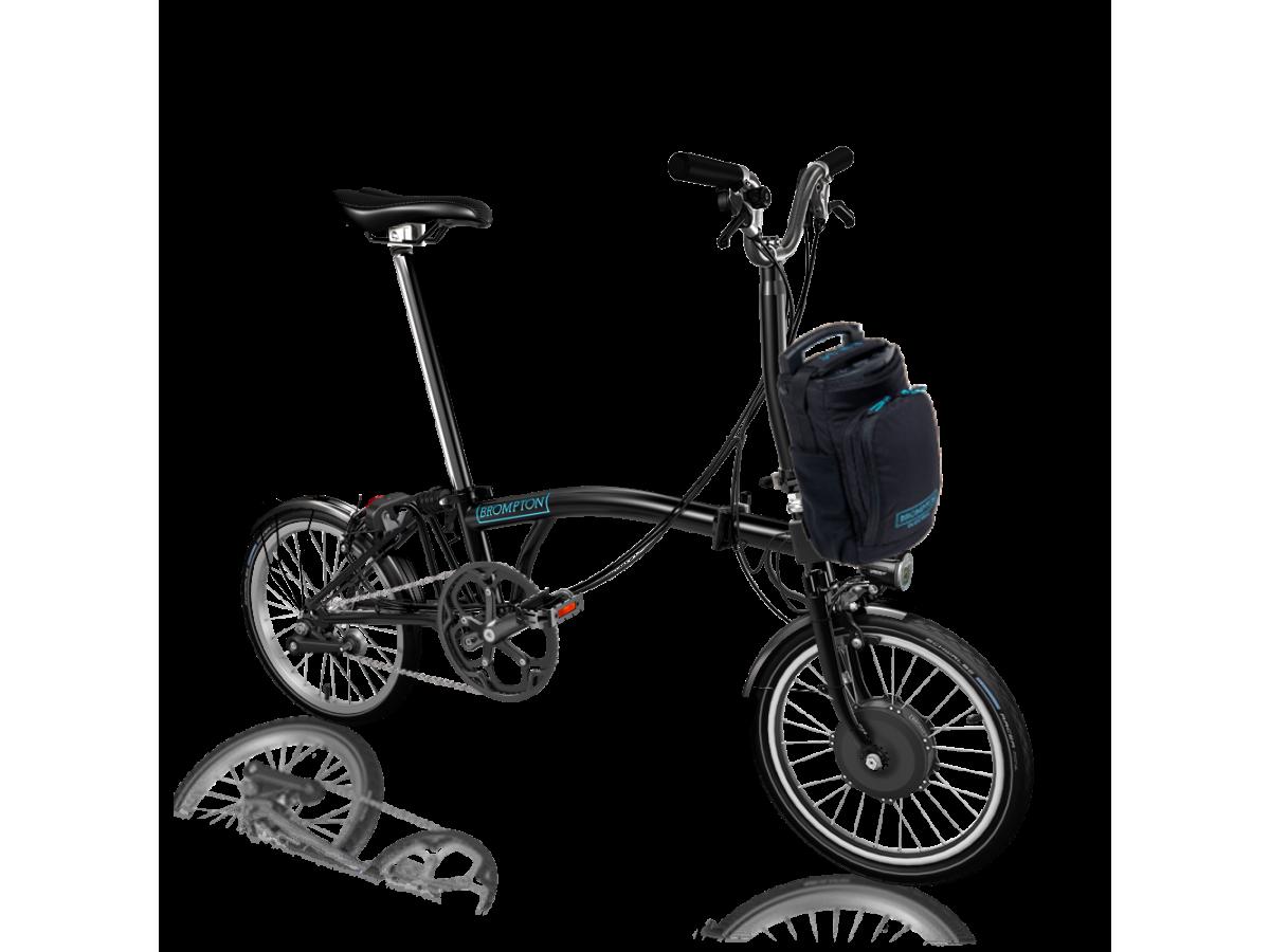 Bicicleta plegable Brompton Electric M2L - Negro