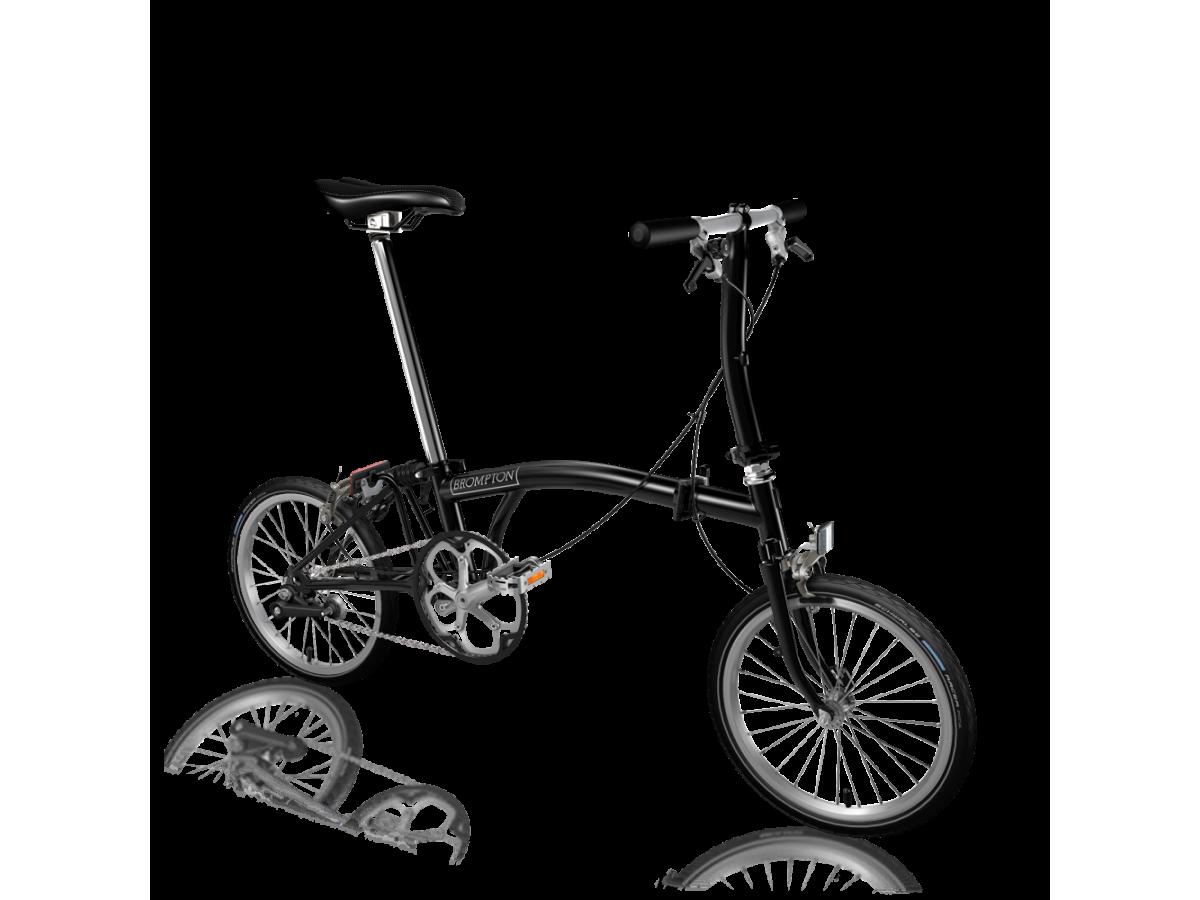 Bicicleta plegable Brompton S1E - Negro