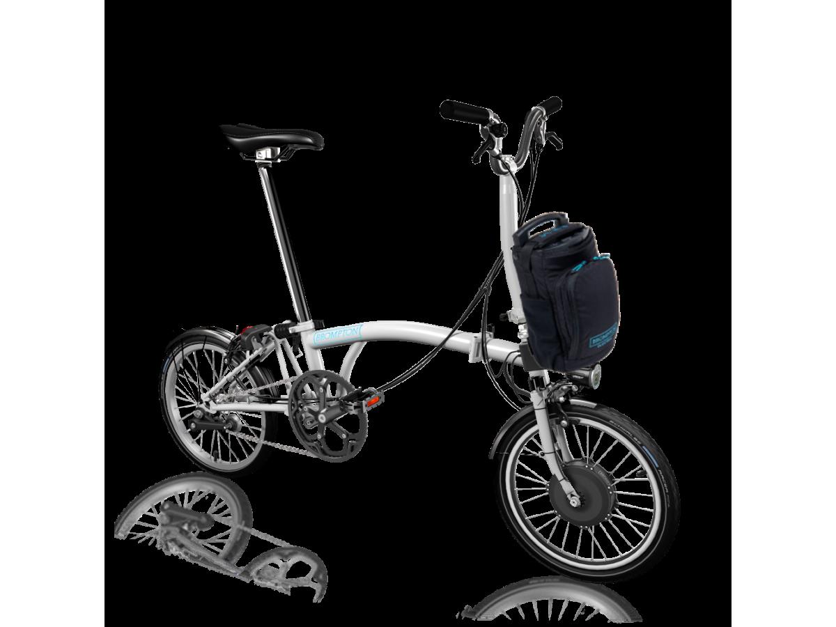 Bicicleta plegable Brompton Electric M2L - Blanc