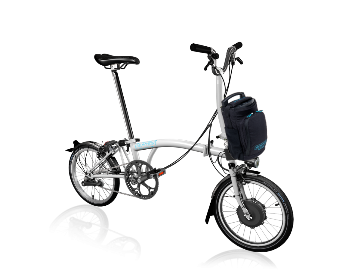 Bicicleta plegable Brompton Electric M2L - Blanco