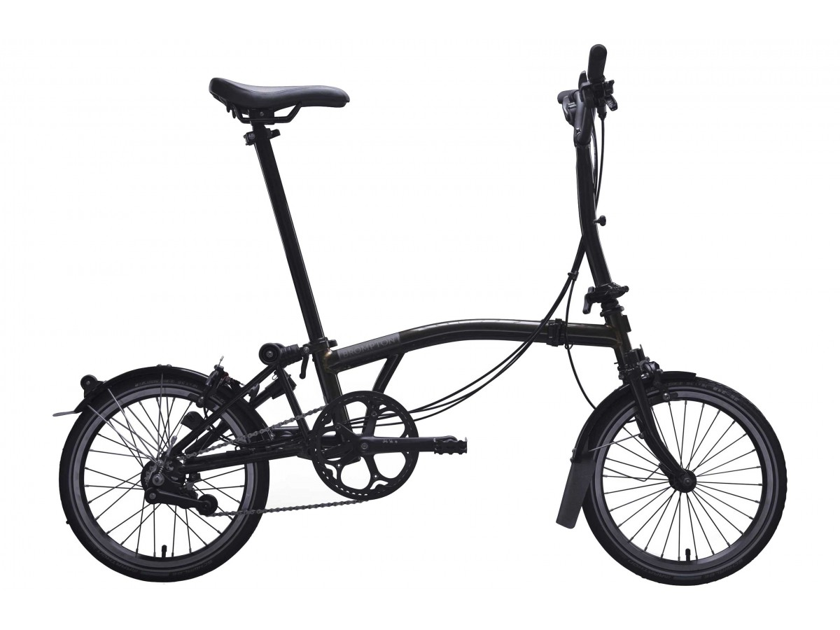 Bicicleta plegable Brompton M6L Black Edition - Negro brillo