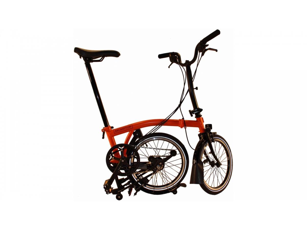 Bicicleta plegable Brompton M6L Black Edition - Rojo