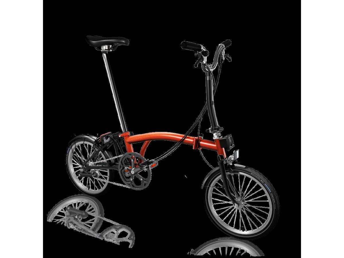 Bicicleta plegable Brompton M6L Black Edition - Flame Lacquer